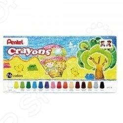 Набор мелков восковых Pentel Crayons: 16 предметов