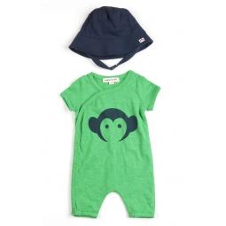 Купить Комплект: комбинезон и панамка «Appaman Romper/ Hat Set». Цвет: зеленый
