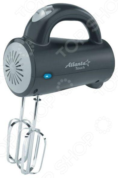 Миксер Atlanta ATH-290Миксеры<br>Миксер Atlanta ATH-290 станет прекрасным дополнением к набору мелкой бытовой техники для кухни. Теперь вы сможете создавать невероятно вкусные и аппетитные блюда, значительно сократив при этом время, потраченное на их приготовление. Предлагаемая модель сочетает в себе профессиональное качество и современный дизайн; удобна, функциональна и практична в использовании. Миксер подходит для приготовления соусов, воздушных омлетов, теста, кремов и коктейлей. Насадки легко отсоединяются от миксера при помощи специальной кнопки. В комплект поставки входят крюки для теста и венчики для взбивания.<br>