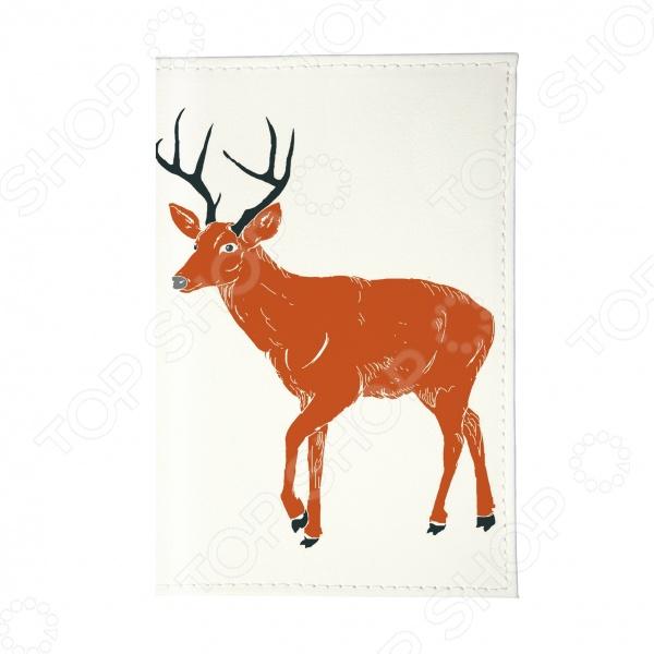 Обложка для паспорта Mitya Veselkov «Красный олень»Обложки для паспортов<br>Mitya Veselkov Красный олень это современная и ультрамодная обложка для вашего паспорта. Представленная модель предназначена для людей, которые хотят сделать жизнь ярче, красочней и к традиционным вещам подходят творчески. Изделие подходит как для внутреннего, так и заграничного удостоверения личности. Изготовленная из ПВХ обложка, надежно защитит важный документ от внешнего воздействия, поэтому он всегда будет как новый. Придайте паспорту оригинальности и подчеркните свою уникальность!<br>