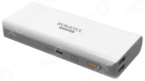 Внешний аккумулятор Romoss Sailing 5Внешние зарядные устройства<br>Внешний аккумулятор Romoss Sailing 5 разработан на основе инновационной технологии FitCharge и совместим с планшетами, смартфонами, МР3, МР4-плеерами и др. Устройство снабжено встроенным выходом на 2,1 А, что обеспечивает полную зарядку аккумулятора всего за 8,5 часов, в то время как обычно для этого требуется около 17-ти часов. Среди явных преимуществ предлагаемого аккумулятора можно отметить:  высокую емкость;  возможность одновременной зарядки аккумулятора и ваших устройств;  наличие двух выходов для зарядки;  высокий уровень защиты от замыкания, от перезаряда, от перегрузки по току, от сброса и от перегрузки напряжения ;  автоматическое отключения в случае неиспользования в течение 1 минуты;  наличие светодиодного индикатора заряда аккумулятора.<br>