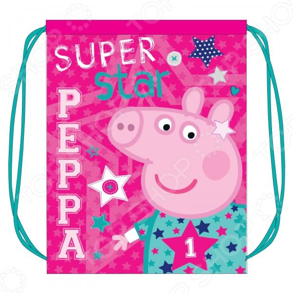Мешок для обуви Peppa Pig «Свинка Пеппа» SuperstarМешки для обуви<br>Мешок для обуви Peppa Pig Свинка Пеппа Superstar станет важным дополнением к школьному комплекту вашего ребенка. В него легко поместится сменная обувь любого размера, а яркий дизайн подарит хорошее настроение. Аксессуар затягивается шнурками. Мешок изготовлен из износостойкой ткани, что позволит ему верно служить долгое время.<br>