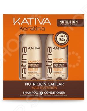 Набор для укрепления волос: шампунь и кондиционер Kativa 65803073 Keratina