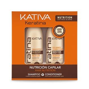 Купить Набор для укрепления волос: шампунь и кондиционер Kativa 65803073 Keratina