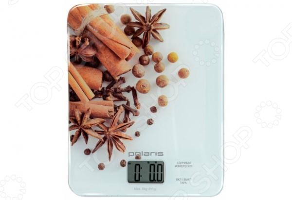 Весы кухонные Polaris PKS0832DG. Рисунок: малинаКухонные весы<br>Весы кухонные Polaris PKS0832DG это компактные кухонные весы, которые сделаны из стекла. Есть функция тарокомпенсации, с помощью которой весы не будут учитывать массу посуды, а вы сможете взвесить даже жидкие и сыпучие продукты без лишних хлопот. Для корректной работы весов максимальный вес не должен превышать 8 кг, точность измерения до 1 грамма. Питание происходит от 2 CR2032.<br>