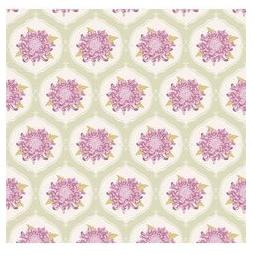 фото Отрез ткани Tilda Орнамент с большим цветком. Цвет: бежевый