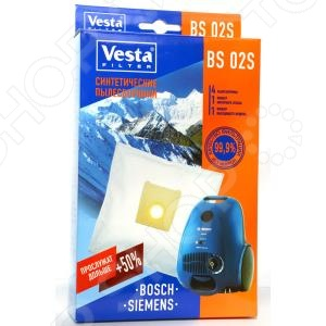 Мешки для пыли Vesta BS 02 S мешки для пыли vesta bs 03 для bosch