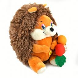 Купить Мягкая игрушка со звуком Maxiplay «Ежик Колян с корзинкой яблок»