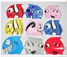 Шапочка для плавания детская YS «Рыбка». В ассортименте - артикул: 620617