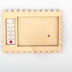 фото Заготовка деревянно-акриловая для изготовления магнита RTO с термометром. Л-822ТГ