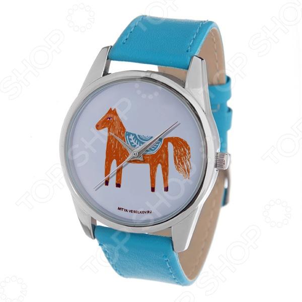 Часы наручные Mitya Veselkov «Лошадка карандашами» Gold