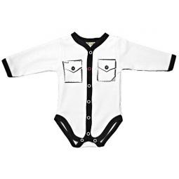 фото Боди для новорожденных с карманами Ёмаё 24-03. Цвет: белый. Размер: 44