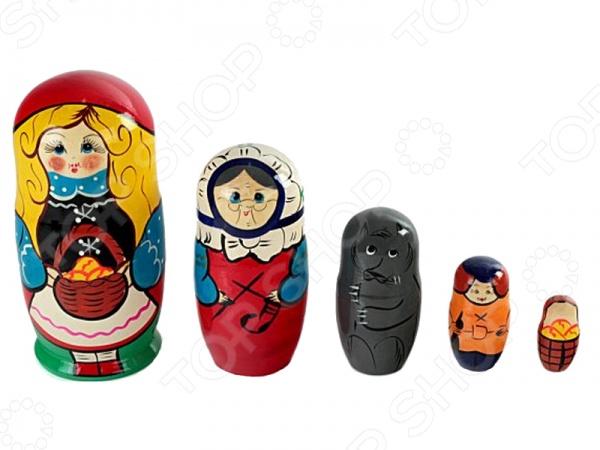Матрешка БЭМБИ «Красная шапочка»Деревянные игрушки для малышей<br>Матрешка БЭМБИ Красная шапочка это замечательный подарок для вашего малыша. Матрешка является традиционно русской деревянной игрушкой в виде расписной куклы, внутрь которой вкладываются фигурки меньшего размера. Только самая маленькая игрушка не является разъемной. Название игрушки пошло от имени Матрена, в основе которого лежит слово мать . Это имя ассоциировалось с матерью большого семейства, обладающей невероятным здоровьем и дородной фигурой. Матрешка БЭМБИ Красная шапочка изготовлена из натурального дерева, что придает ей неповторимую красоту и уникальность. Все фигурки расписаны мастерами вручную по мотивам одноименной сказки. В комплект входят 5 фигурок.<br>