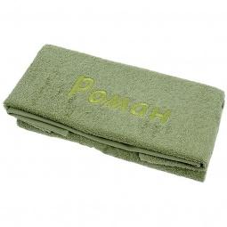 фото Полотенце подарочное с вышивкой TAC Роман. Цвет: зеленый