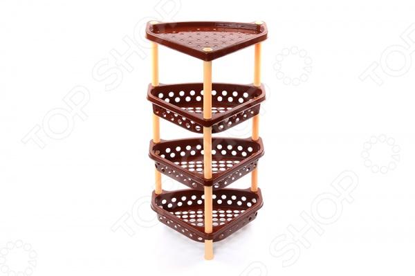 Этажерка угловая Violet 1604 этажерка столик с3 мя корзинками atlanta цвет серебристый белый