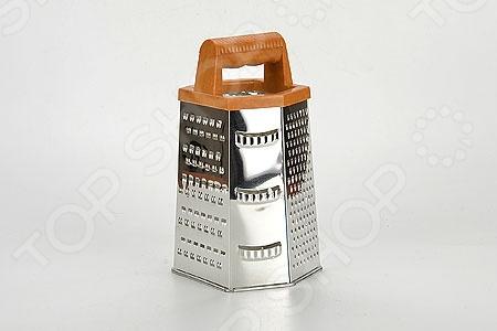 Терка шестигранная Super Kristal SK-8862Терки. Шинковки<br>Терка шестигранная Super Kristal SK-8862 удобное и незаменимое приспособление на кухне любой современной хозяйки. Шестигранная терка выполнена из нержавеющей стали, которая отливается своей износостойкостью и долговечность. Удобная пластмассовая ручка позволяет придерживать терку во время использования, не давая ей скользить по поверхности столешницы. Грани с различными вариантами режущих поверхностей позволяют натереть продукты соломкой разной величины и вида. Высота терки составляет 22 см.<br>