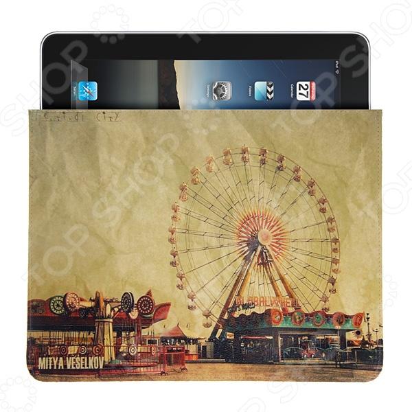 Чехол для iPad Mitya Veselkov «Колесо обозрения» чехлол для ipad iphone mitya veselkov чехол для ipad райский сад ip 08