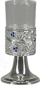 Фужер Rosenberg S-1290Бокалы<br>Фужер Rosenberg S-1290 невероятно изящное и красивое изделие, которое украсит любой праздничный стол и вызовет неподдельное восхищение у ваших гостей. Фужер на конусовидной ножке, по периметру украшен витиеватым узором из камней и цветков. Представлен в стильной серебристой расцветке. Объем фужера 100 мл. Размер 5х5х14 см.<br>