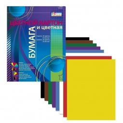Купить Набор: картон цветной и бумага цветная Бриз 1126-400