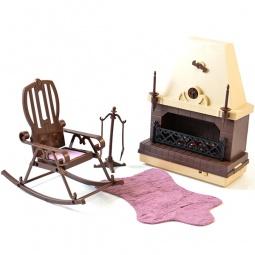 фото Набор мебели игрушечный Огонек для каминной комнаты «Коллекция»
