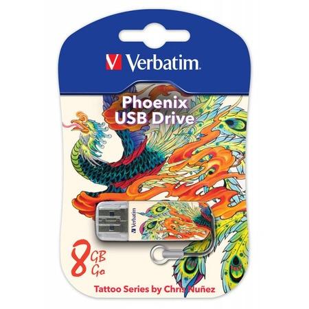 Купить Флешка Verbatim Store 'n' Go Mini Tattoo Phoenix 8Gb
