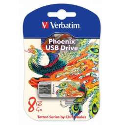 Купить Флешка Verbatim Store 'n' Go Mini Tattoo Phoenix 8Gb