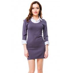 фото Платье Mondigo 9741. Цвет: темно-серый. Размер одежды: 44