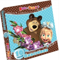 фото Набор пластилина Росмэн «Маша и Медведь»: 10 цветов