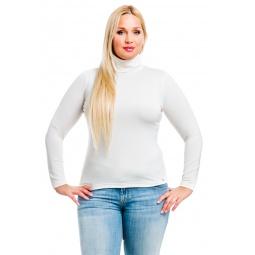 фото Водолазка Mondigo XL 204. Цвет: белый. Размер одежды: 48