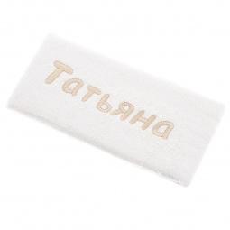 фото Полотенце подарочное с вышивкой TAC Татьяна. Цвет: молочный