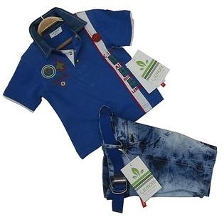 Купить Комплект: футболка и шорты Lemon «Пилот» С-130. Цвет: синий