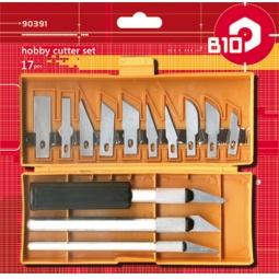 Купить Нож строительный со сменными лезвиями B10 90391