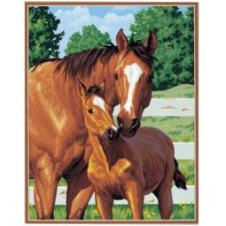 Купить Набор для рисования по номерам Dimensions «Лошадь и жеребенок»
