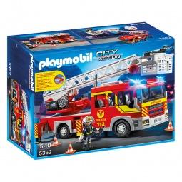 фото Конструктор игровой Playmobil «Пожарная служба: Пожарная машина с лестницей со светом и звуком»