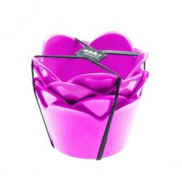 фото Набор мисок десертных Zak!designs «Сладкие мгновения». Цвет: малиновый