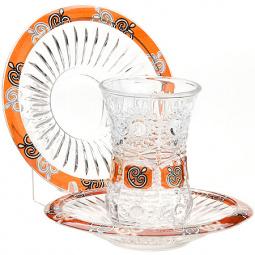 Набор стаканов и блюдца Loraine LR-24680