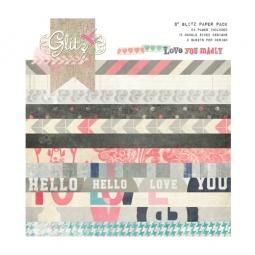 фото Набор бумаги Glitz Design Love you madly. Количество листов: 24. Размер: 20х20 см