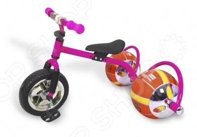 Велосипед с колесами в виде мячей Bradex «Баскетбайк» Велосипед детский Bradex «Баскетбайк» /Розовый