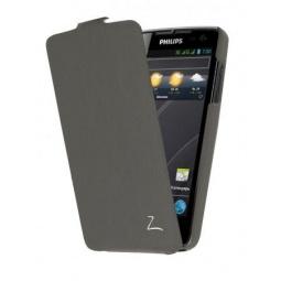 фото Чехол LaZarr Flip Case для Philips Xenium W732. Цвет: серый