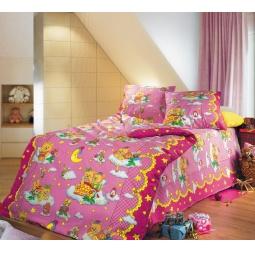фото Детский комплект постельного белья Бамбино «Сладкий сон». Цвет: розовый