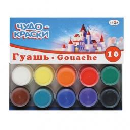 Купить Гуашь Гамма «Чудо-краски»: 10 цветов