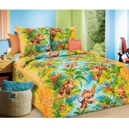 фото Детский комплект постельного белья Бамбино «Обезьянки»
