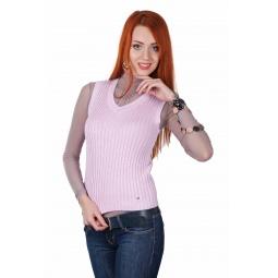 фото Жилет Mondigo 9007-63. Цвет: бледно-розовый. Размер одежды: 42