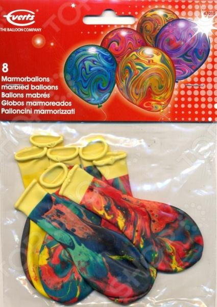 Набор воздушных шаров Everts «Разноцветный мрамор». Количество: 8 предметов овестин крем 1 мг г 15 г