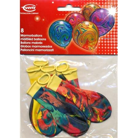Купить Набор воздушных шаров Everts «Разноцветный мрамор». Количество: 8 предметов