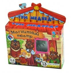 Купить Игра развивающая для малыша Vladi Toys «Магнитный театр. Три медведя»