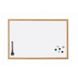 фото Доска настенная магнитно-маркерная с деревянной рамкой Magnetoplan. Размер: 79х59 см