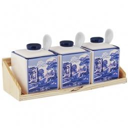 Купить Набор банок для сыпучих продуктов Коралл «Старый замок»