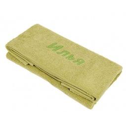 фото Полотенце подарочное с вышивкой TAC Илья. Цвет: оливковый