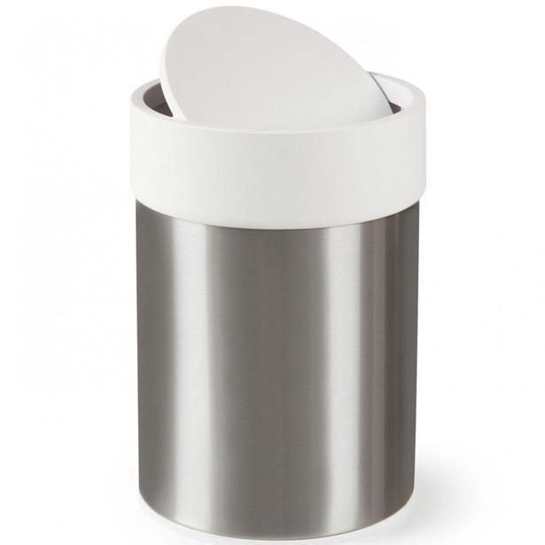 фото Контейнер для мусора Umbra Ensa. Цвет: белый